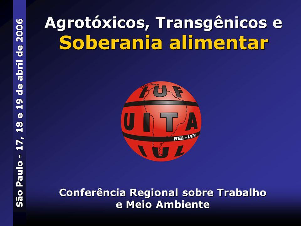 Agrotóxicos, Transgênicos e Soberania alimentar