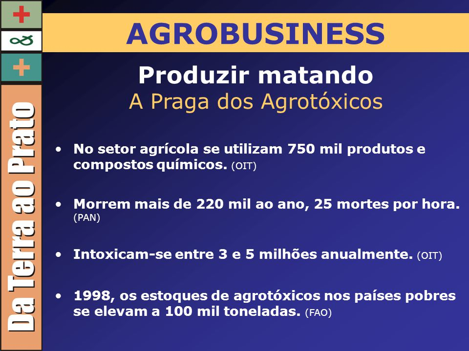 A Praga dos Agrotóxicos