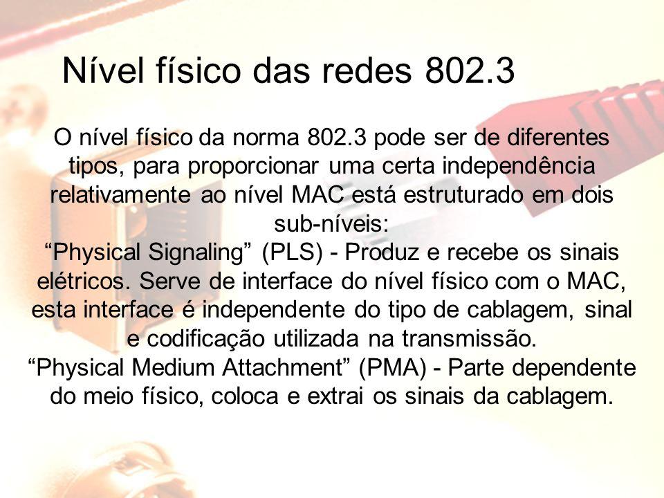 Nível físico das redes 802.3