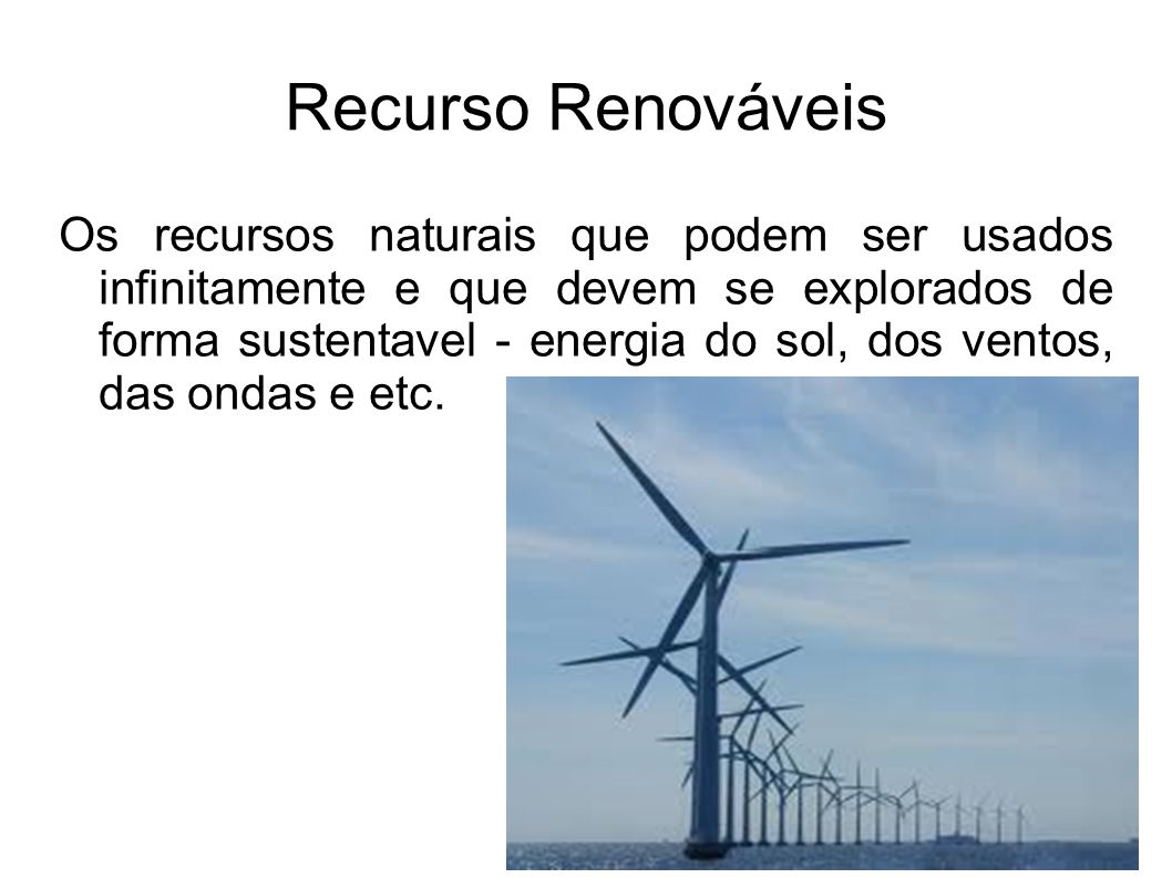 Recurso Renováveis