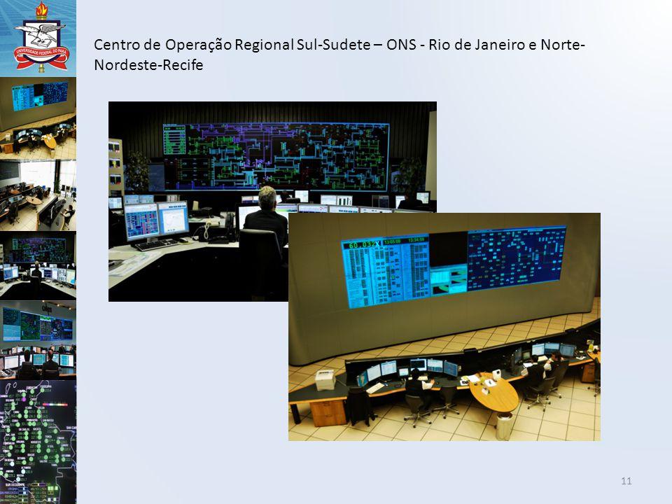 Centro de Operação Regional Sul-Sudete – ONS - Rio de Janeiro e Norte-Nordeste-Recife