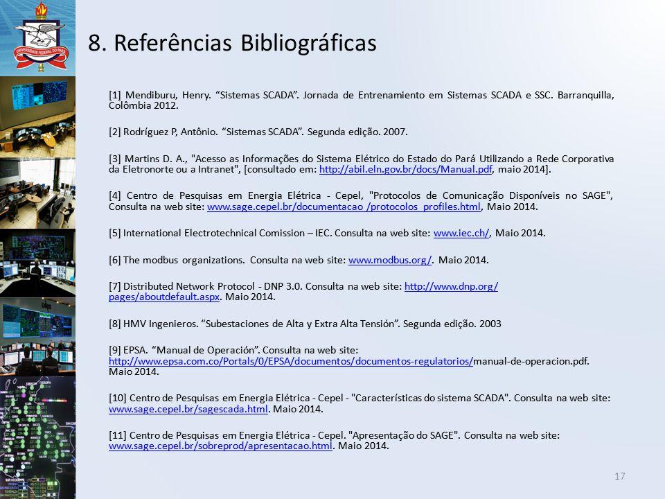 8. Referências Bibliográficas