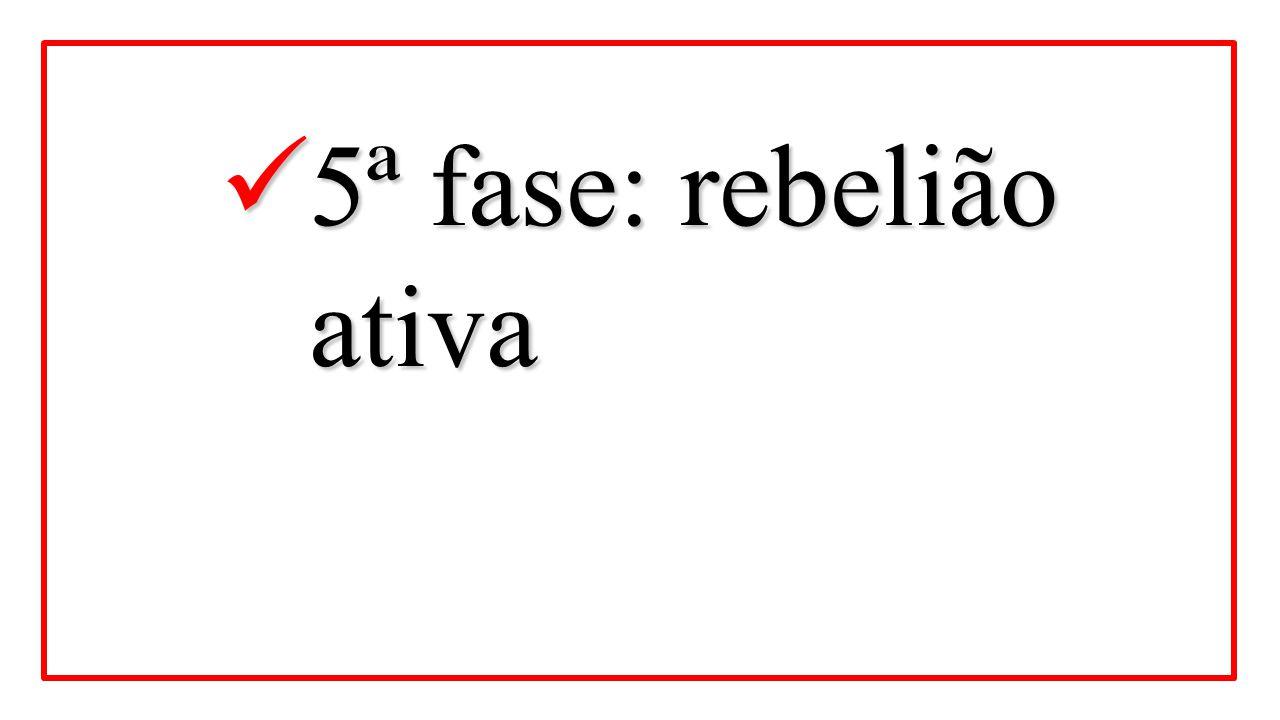 5ª fase: rebelião ativa