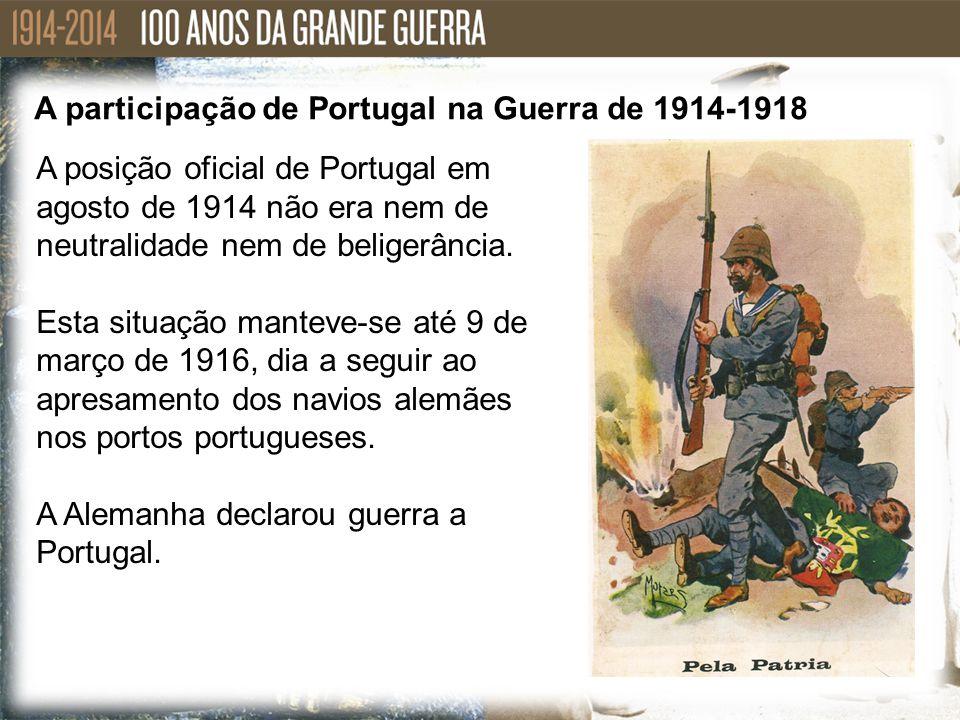 A participação de Portugal na Guerra de 1914-1918