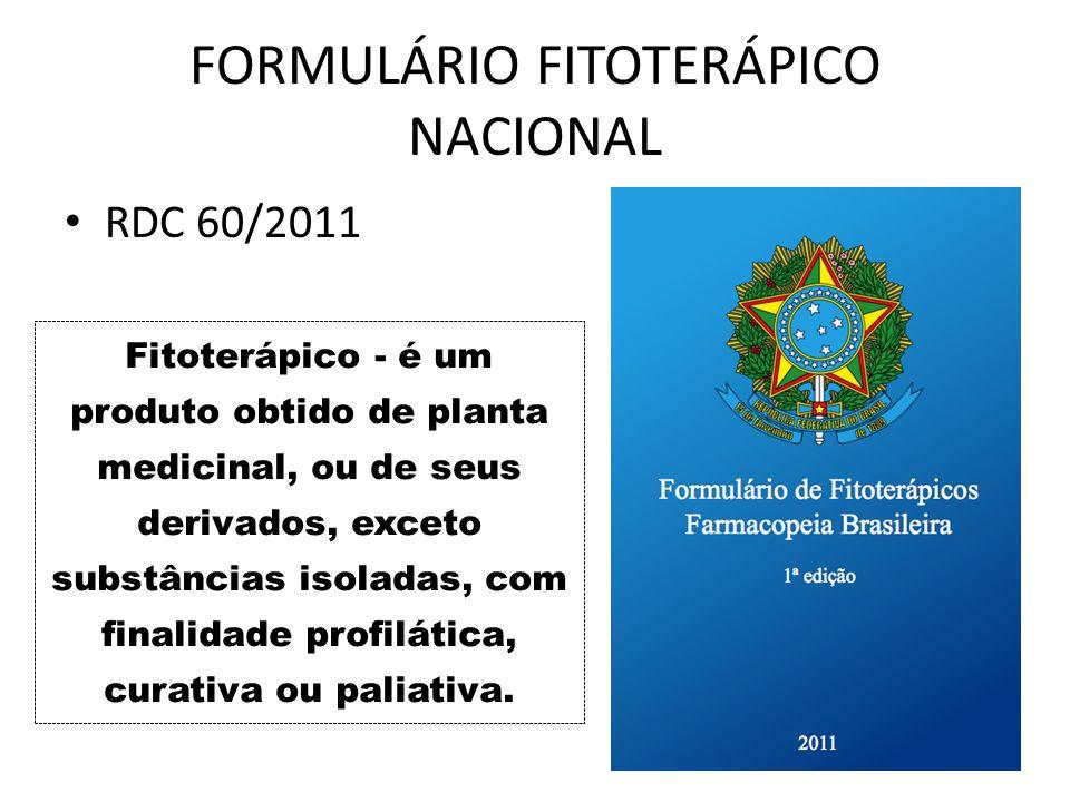 FORMULÁRIO FITOTERÁPICO NACIONAL