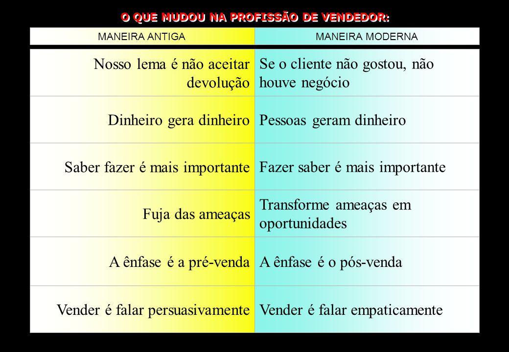 O QUE MUDOU NA PROFISSÃO DE VENDEDOR: