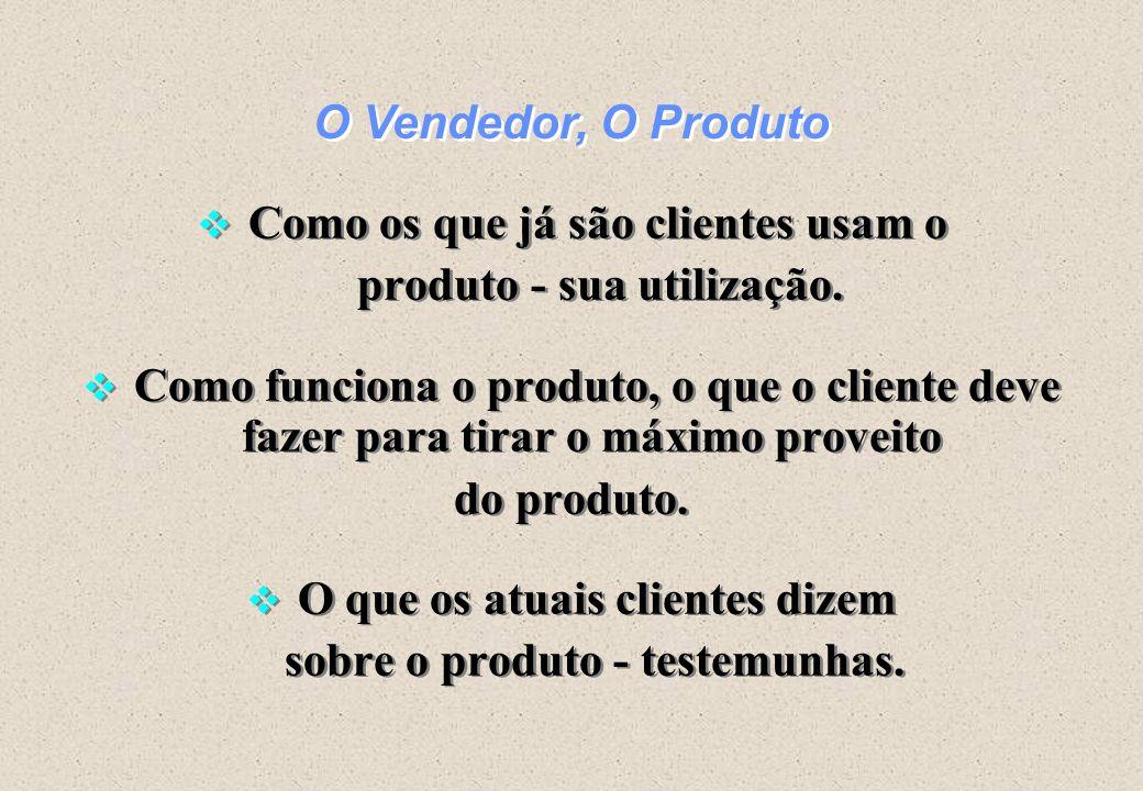 Como os que já são clientes usam o produto - sua utilização.