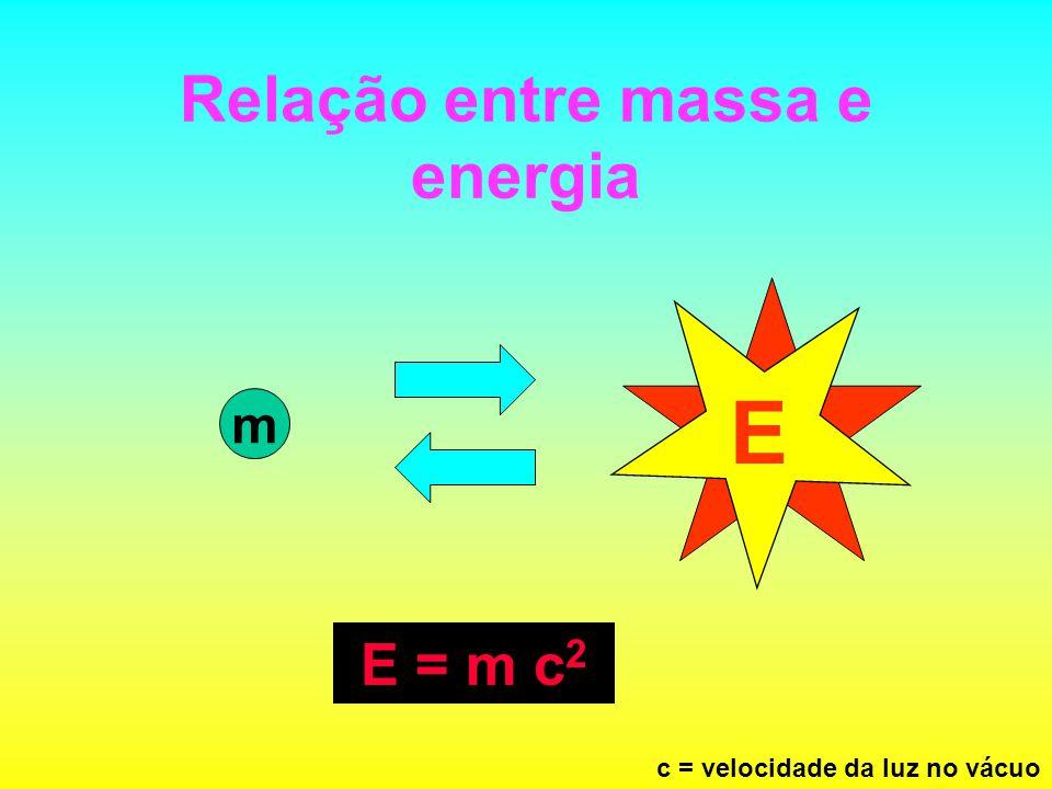 Relação entre massa e energia