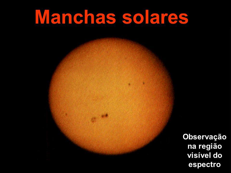 Manchas solares Observação na região visível do espectro