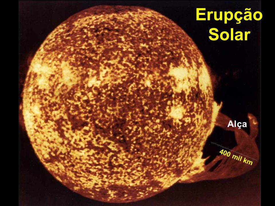 Erupção Solar Alça 400 mil km