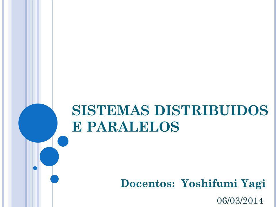 SISTEMAS DISTRIBUIDOS E PARALELOS