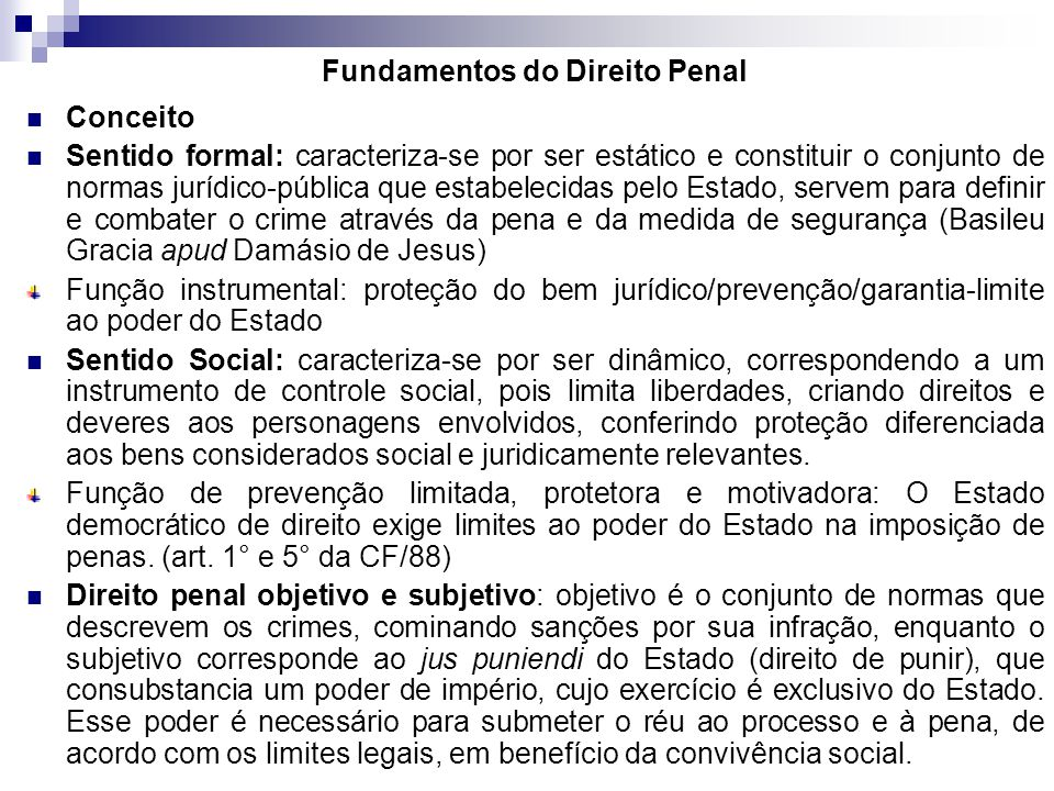 Fundamentos do Direito Penal