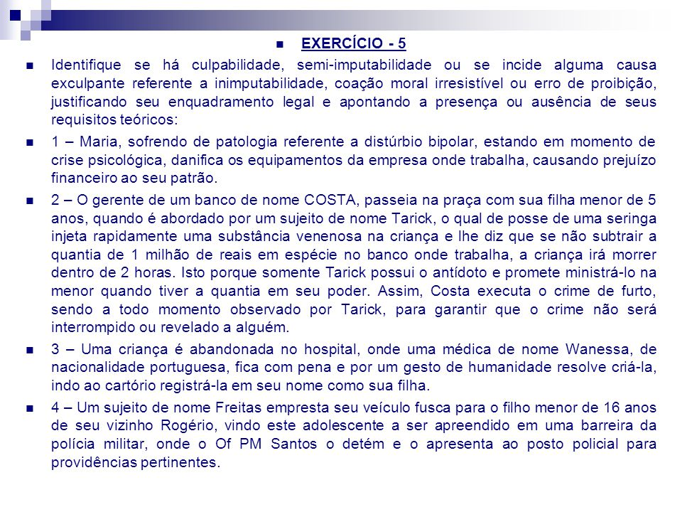 EXERCÍCIO - 5