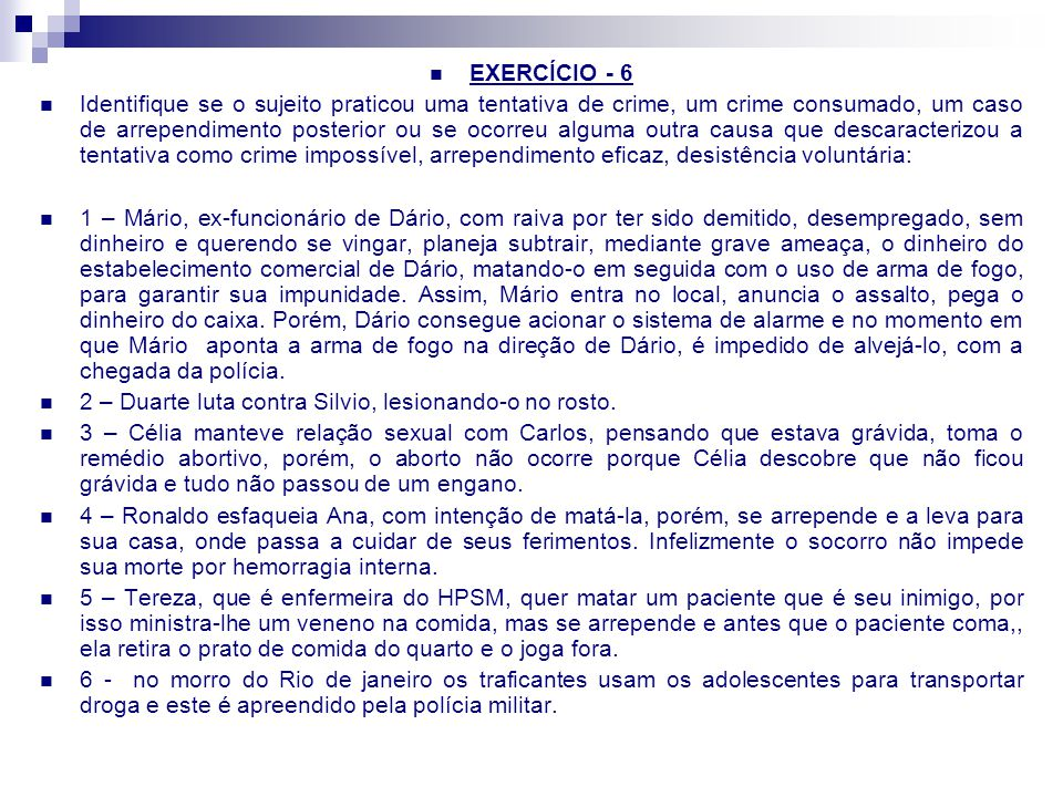 EXERCÍCIO - 6