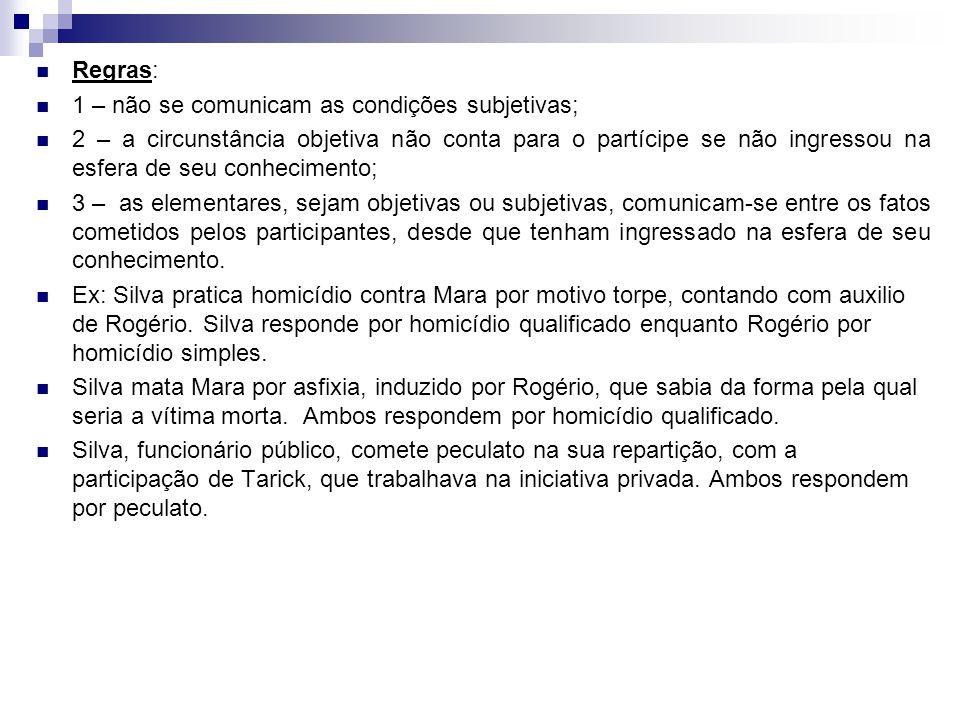 Regras: 1 – não se comunicam as condições subjetivas;