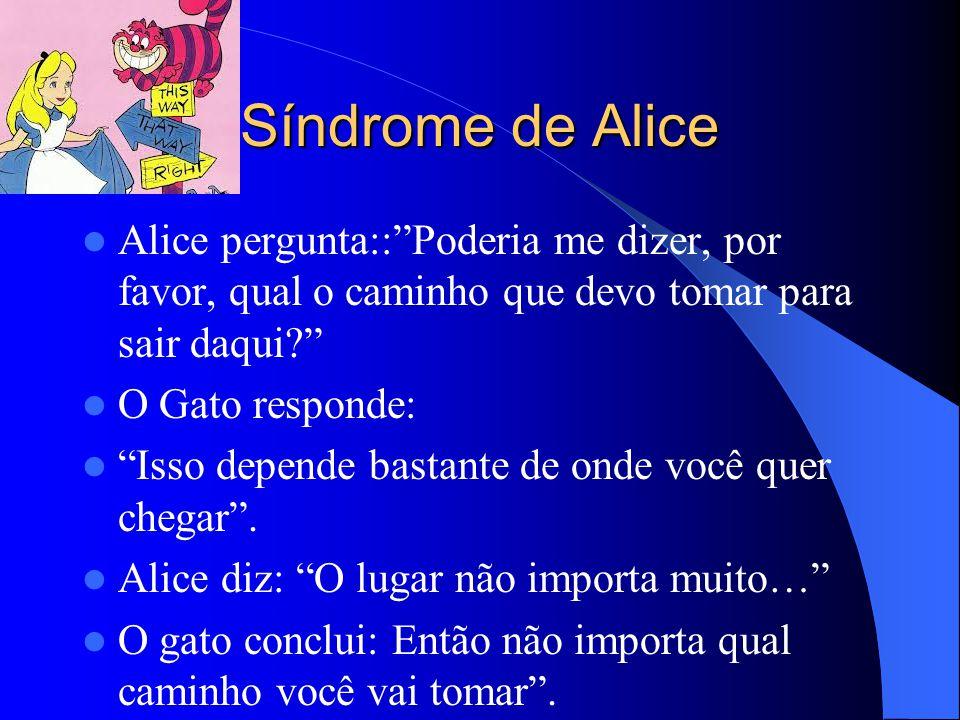 Síndrome de Alice Alice pergunta:: Poderia me dizer, por favor, qual o caminho que devo tomar para sair daqui