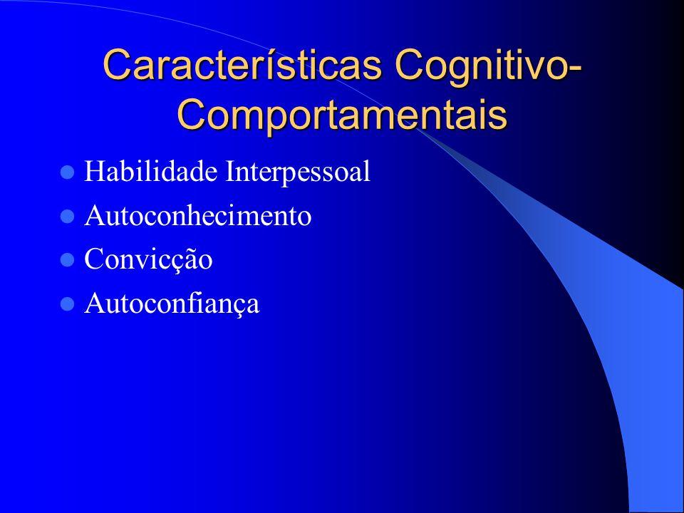 Características Cognitivo-Comportamentais