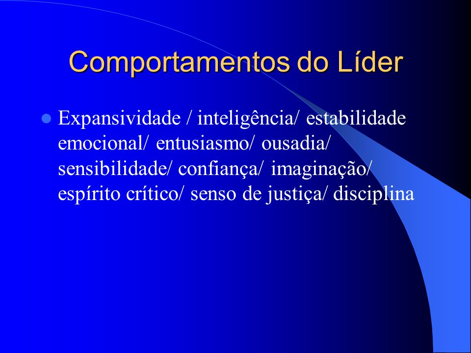 Comportamentos do Líder