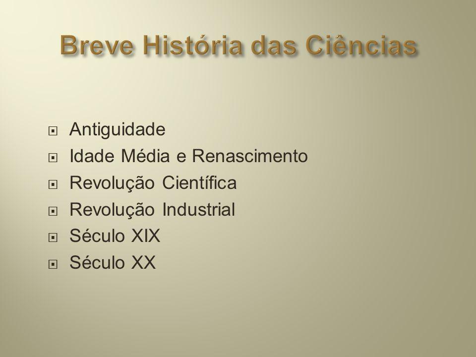 Breve História das Ciências