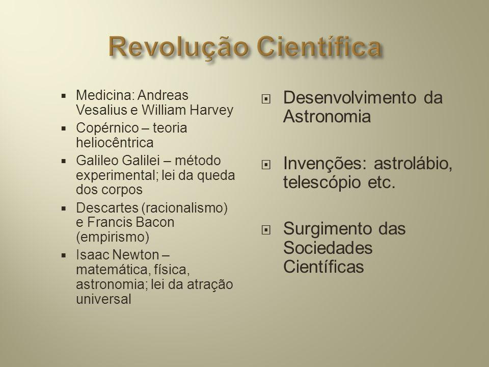 Revolução Científica Desenvolvimento da Astronomia