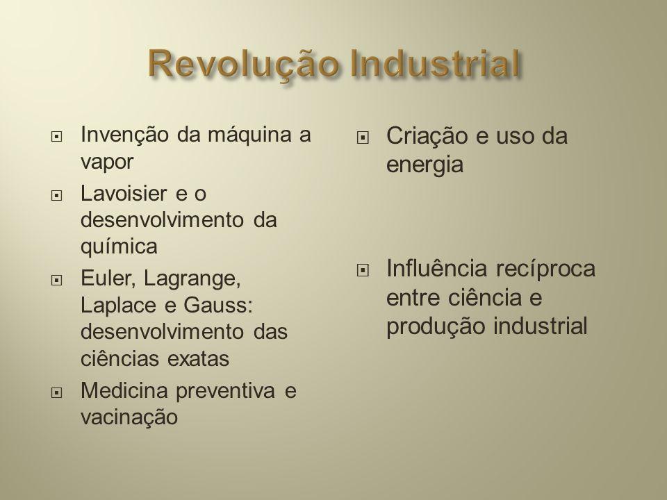 Revolução Industrial Criação e uso da energia