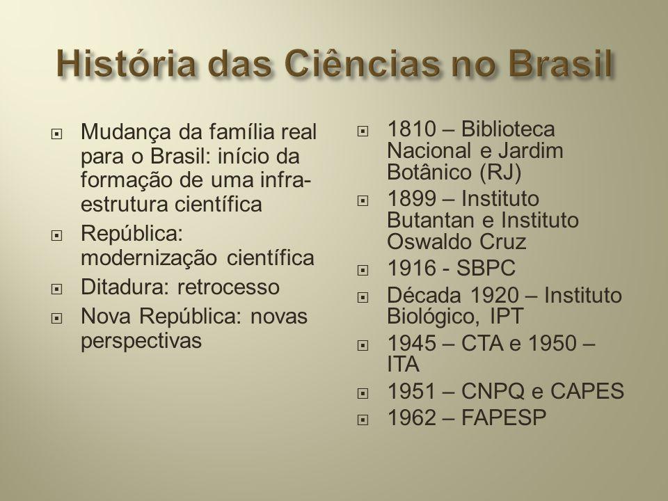 História das Ciências no Brasil