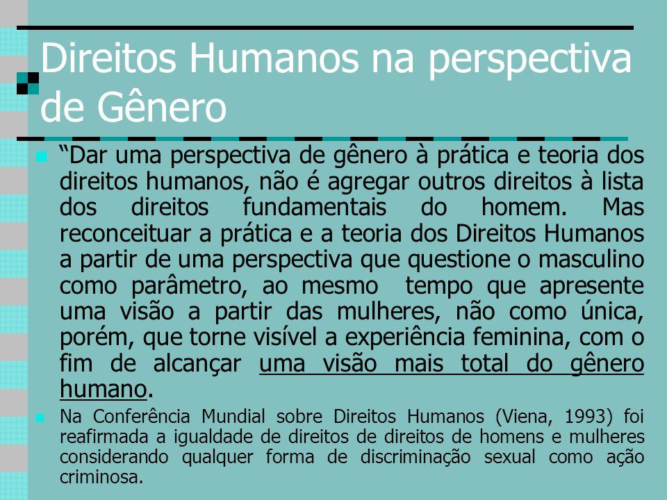 Direitos Humanos na perspectiva de Gênero