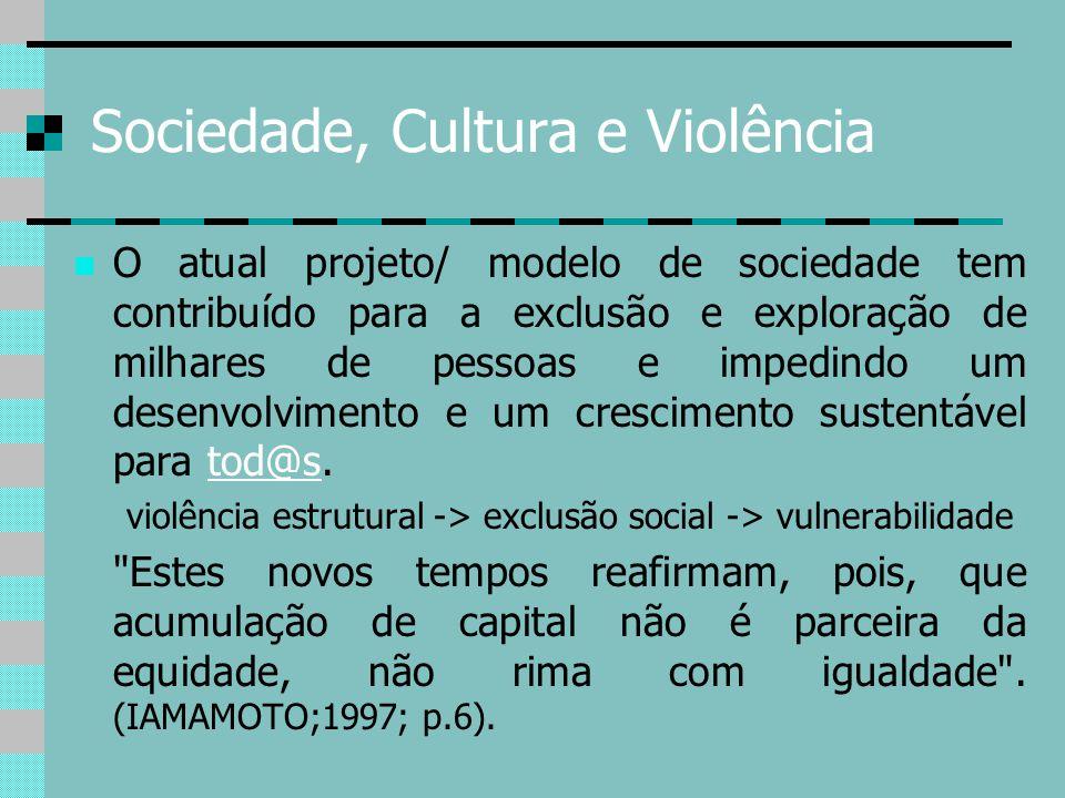 Sociedade, Cultura e Violência
