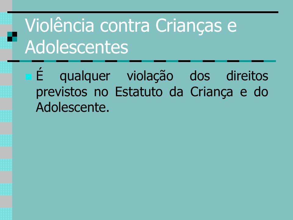 Violência contra Crianças e Adolescentes