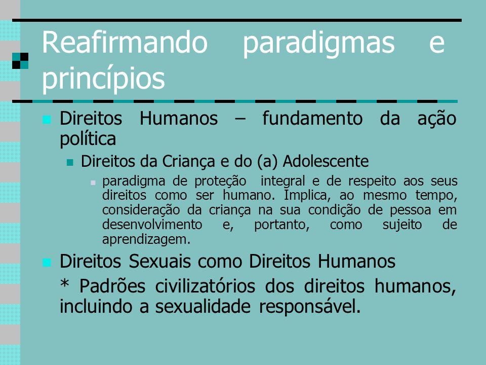 Reafirmando paradigmas e princípios