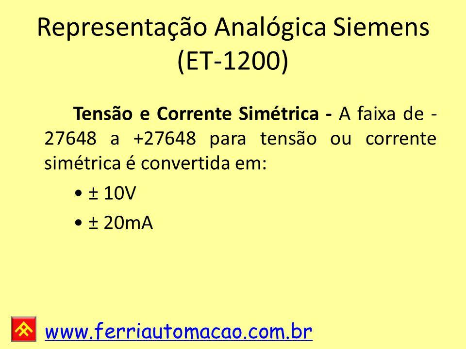 Representação Analógica Siemens (ET-1200)