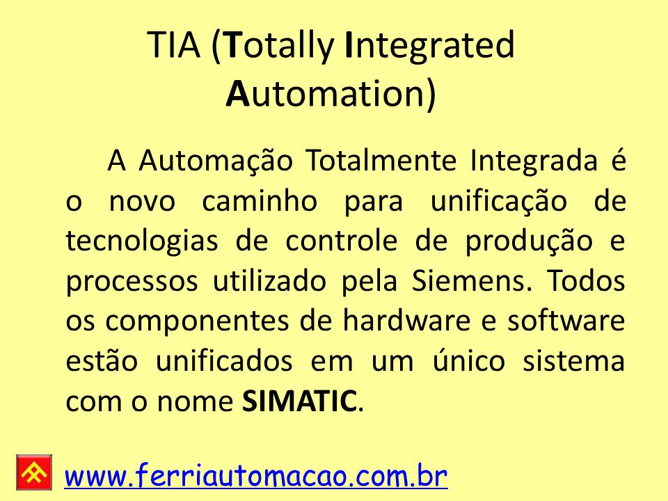TIA (Totally Integrated Automation)