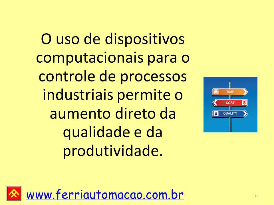 O uso de dispositivos computacionais para o controle de processos industriais permite o aumento direto da qualidade e da produtividade.