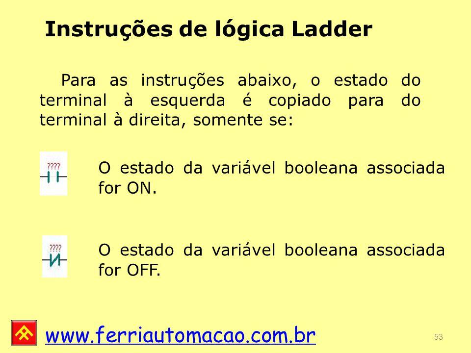 Instruções de lógica Ladder