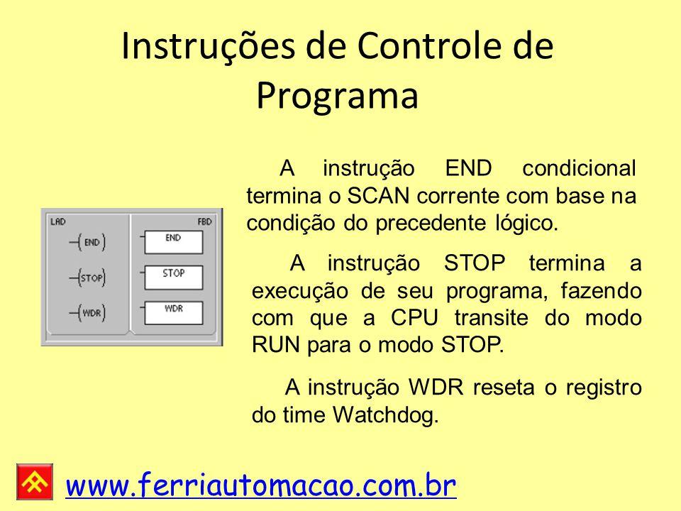 Instruções de Controle de Programa