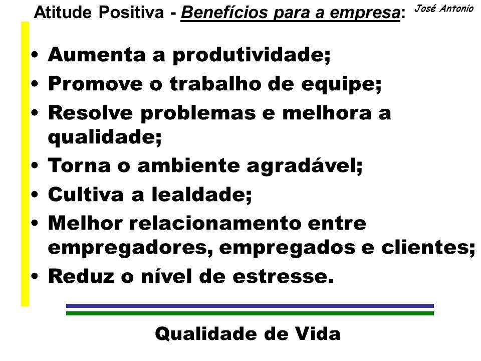 Atitude Positiva - Benefícios para a empresa: