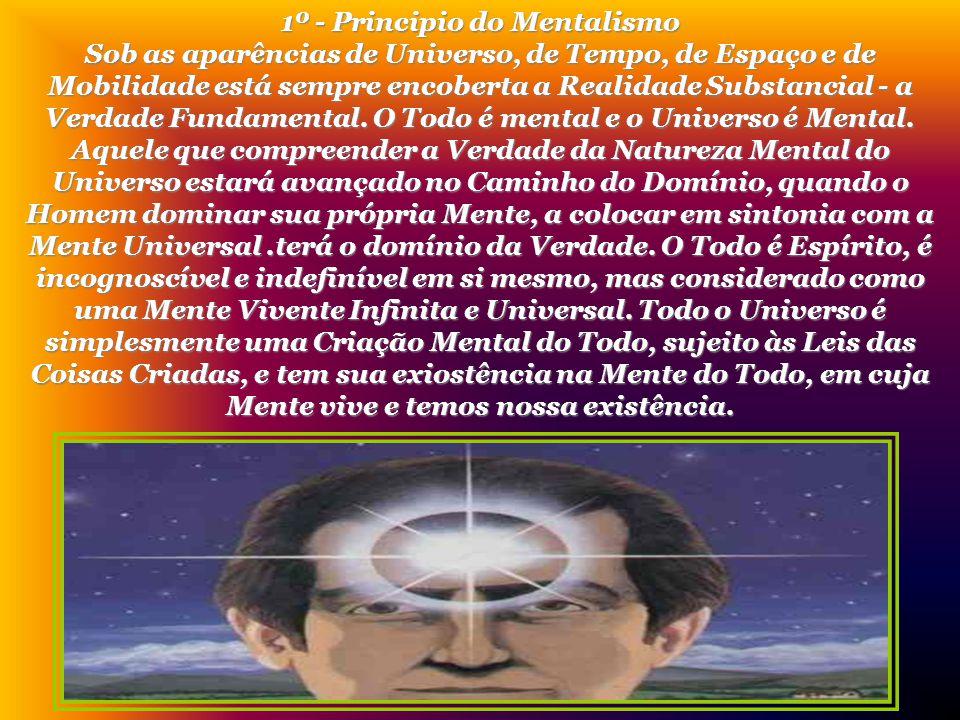 1º - Principio do Mentalismo