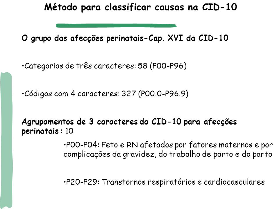 Método para classificar causas na CID-10