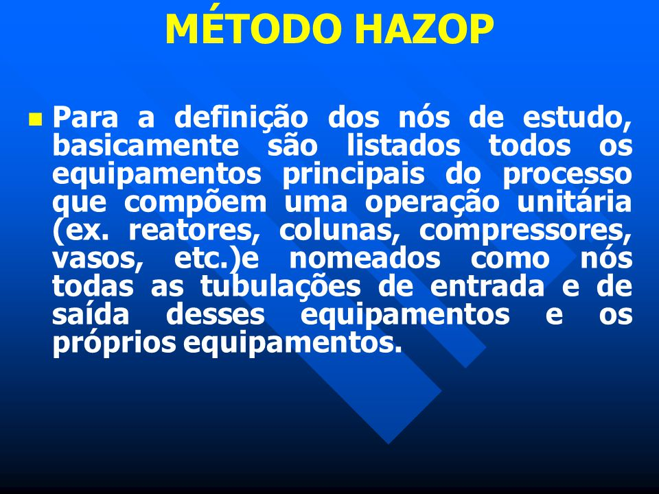 MÉTODO HAZOP