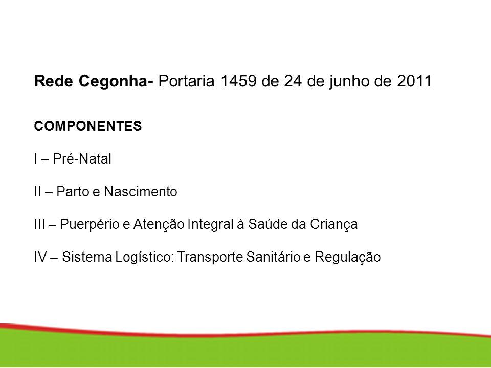Rede Cegonha- Portaria 1459 de 24 de junho de 2011