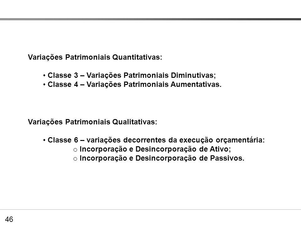 Variações Patrimoniais Quantitativas: