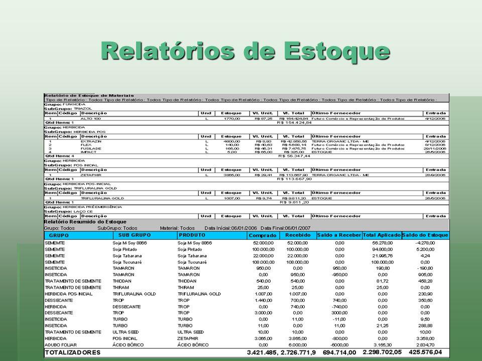 Relatórios de Estoque www.brazsoft.com.br (65) 3023 9013