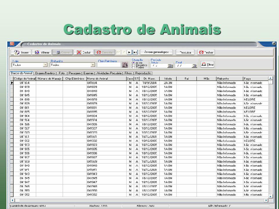 Cadastro de Animais www.brazsoft.com.br (65) 3023 9013