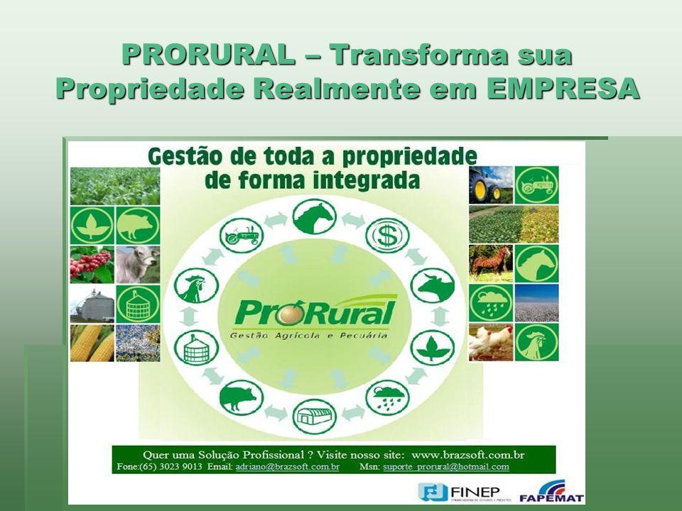 PRORURAL – Transforma sua Propriedade Realmente em EMPRESA