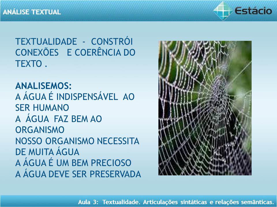 TEXTUALIDADE - CONSTRÓI CONEXÕES E COERÊNCIA DO TEXTO .