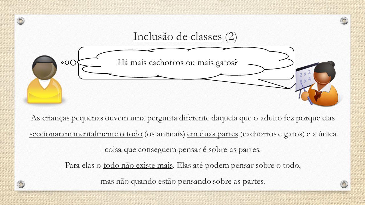 Inclusão de classes (2) Há mais cachorros ou mais gatos