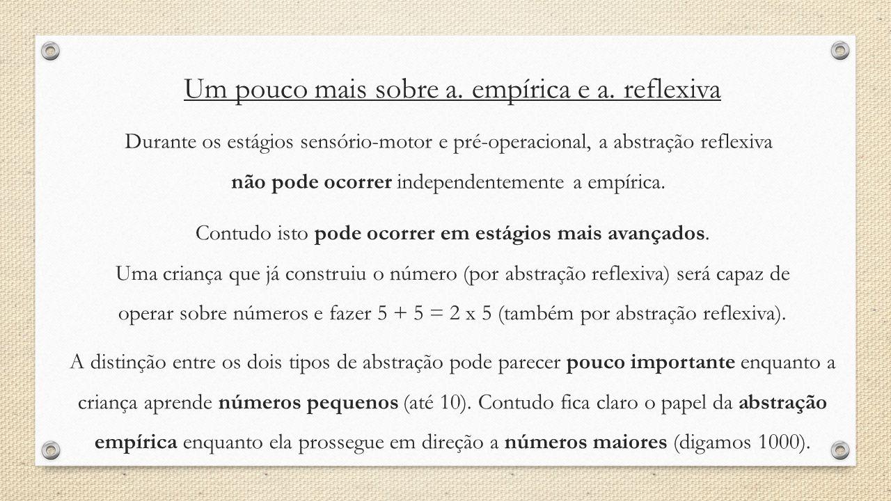 Um pouco mais sobre a. empírica e a. reflexiva