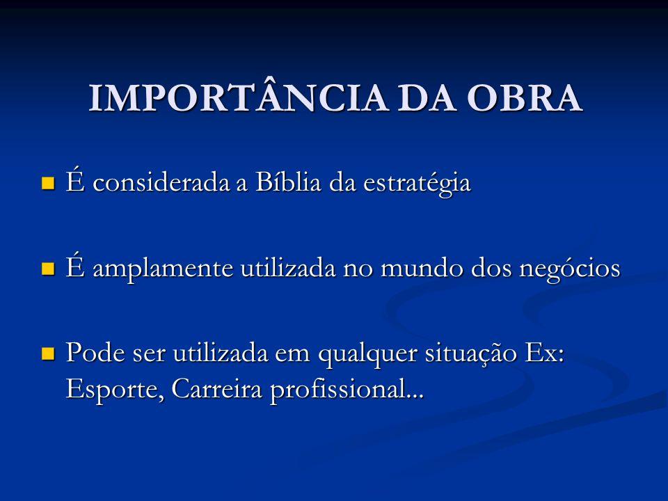 IMPORTÂNCIA DA OBRA É considerada a Bíblia da estratégia