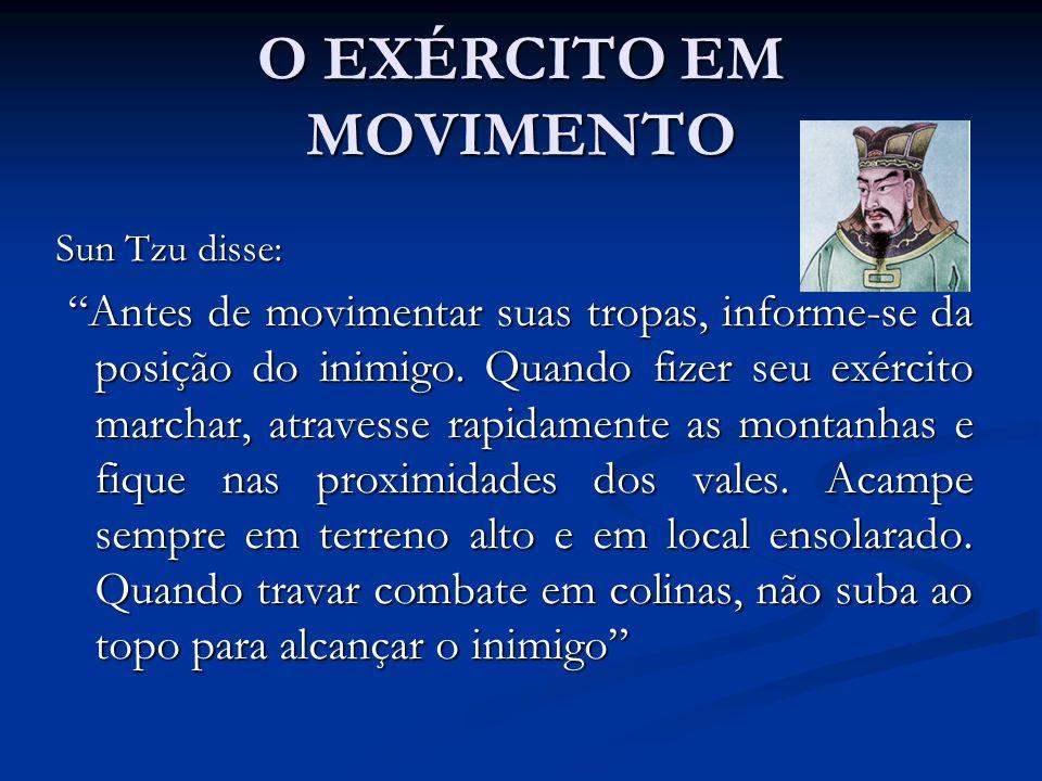O EXÉRCITO EM MOVIMENTO