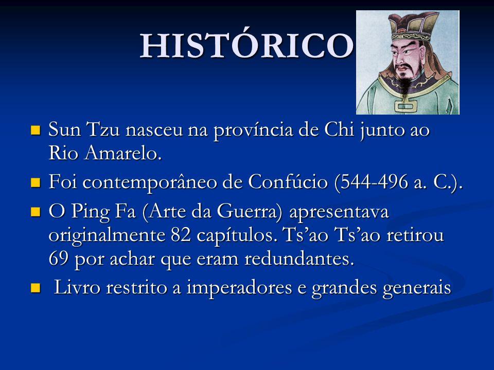 HISTÓRICO Sun Tzu nasceu na província de Chi junto ao Rio Amarelo.